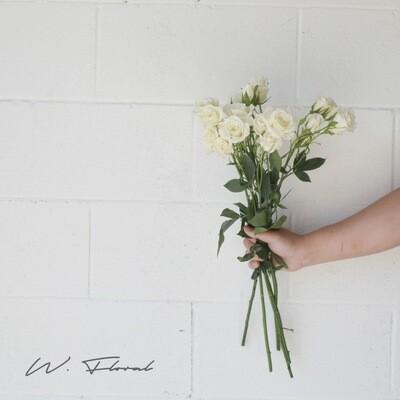 Bunch of Spray Roses - White