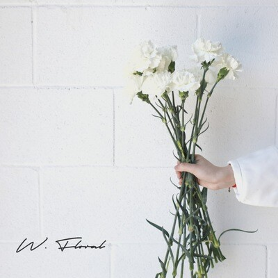 Bunch of Carnation - White