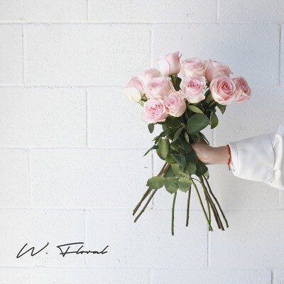 Bunch of Light Pink Roses - Novia