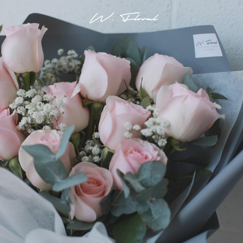 11 Pink Rose Bouquet