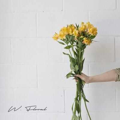 Bunch of Alstromeria - Yellow