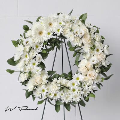 Peaceful White Wreath