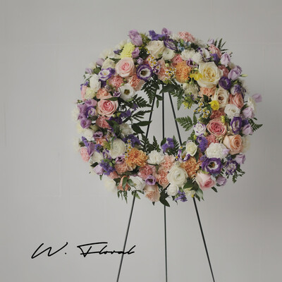 Delicate Shades Funeral Wreath