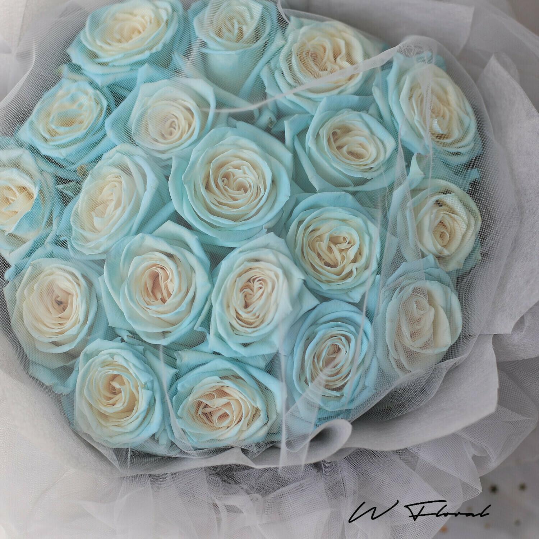 Grey Chiffon Starry Roses