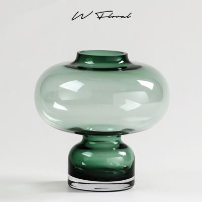 Emerald Wide Neck Vase