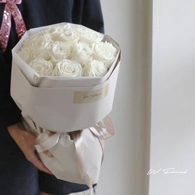 White Rose Round Bouquet