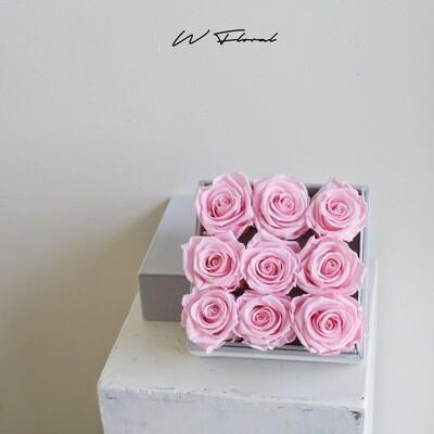 Felt Preserved Roses All Pink
