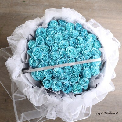 Chiffon Frozen Rose Bouquet