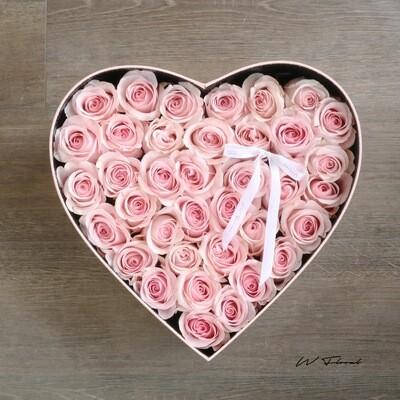 Big Heart Rose Box - Pink