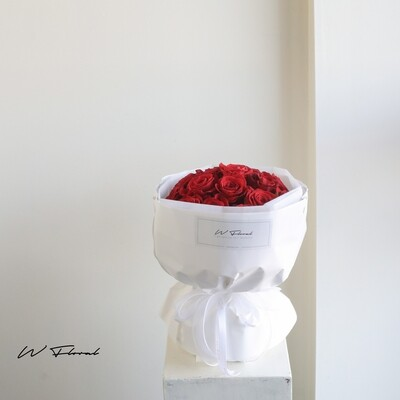 Red Rose Russian Round Bouquet