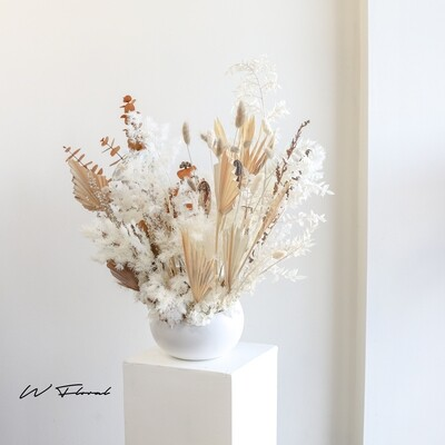 Dried Preserved Angled Bowl Arrangement