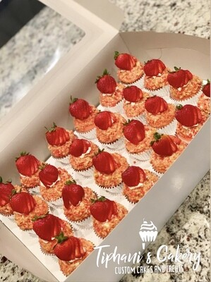 Strawberry Cheesecake Cupcakes (Choose Cupcake Size For Pricing)