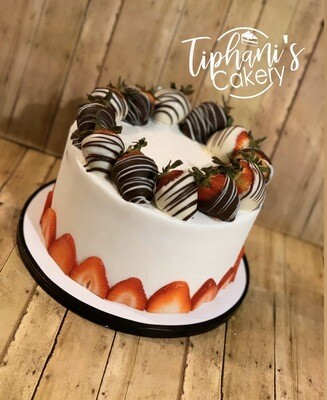 Strawberry Lover Cake (w/ Chocolate Covered Strawberries