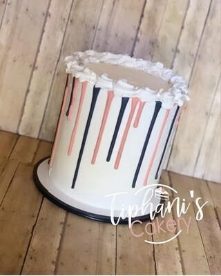 Drip cake (2 Colors) (serves 8-10)