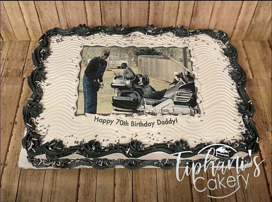 Sheet Cake W/ Photo (select size for pricing)