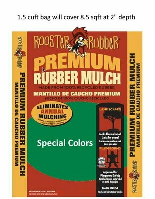 Special Colors - Premium Recycled Rubber Nuggets for Play Areas and Landscapes
