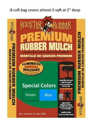 Special Colors - .8 cuft Premium Recycled Rubber Nuggets for Play Areas and Landscapes