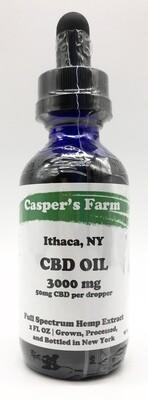 Casper's Farm 3000 MG CBD Distillate 2oz Bottle