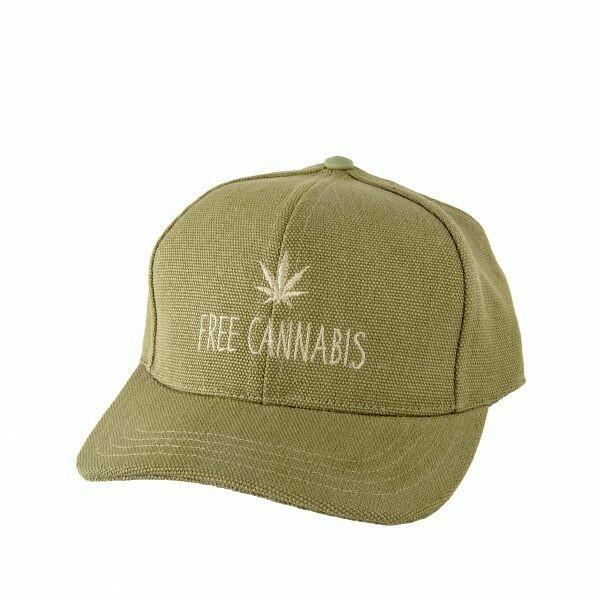 """""""Free Cannabis"""" Hemp Baseball Cap"""
