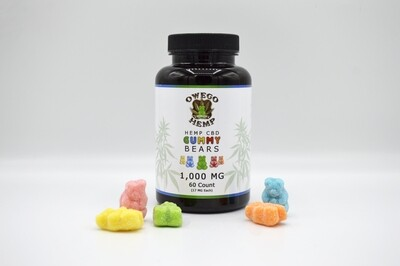 Owego Hemp CBD Gummies 60 Count/1000mg