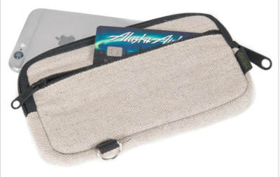 Hemp Card & Cash Zippered Clutch