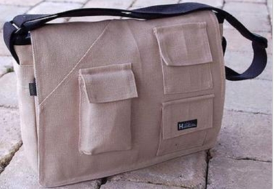 Large Hemp Book | Laptop Bag