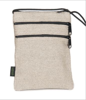 Hemp 3 Zipper Pouch