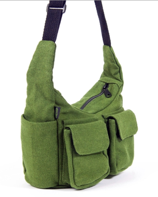 Multi-Compartment Hemp Purse