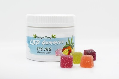 CBD Infused Gummy Cubes 30 Count / 750mg