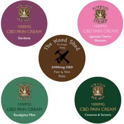 Owego Hemp Hand Poured CBD Pain Balms 1000mg