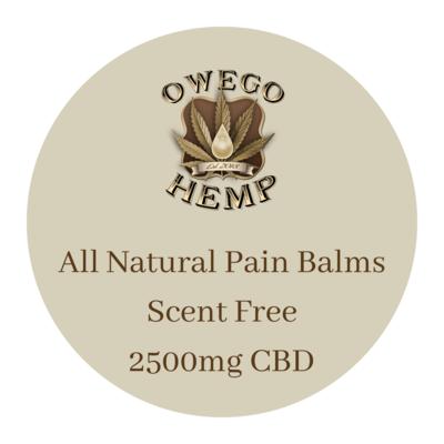 Owego Hemp Natural, Unscented Pain Balm 2500mg