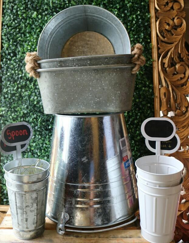Steel & Wood Buckets