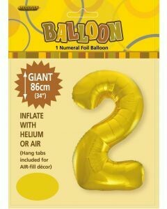 Number 2 Foil Balloon - 86cm​