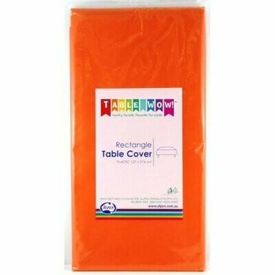 Orange Plastic table cloth 137 X 274 CM