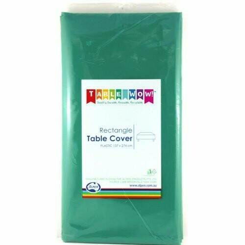 Green Plastic table cloth 137 X 274 CM