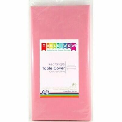 Pink Plastic table cloth 137 X 274 CM