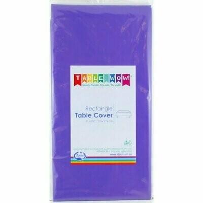 Purple Plastic table cloth 137 X 274 CM