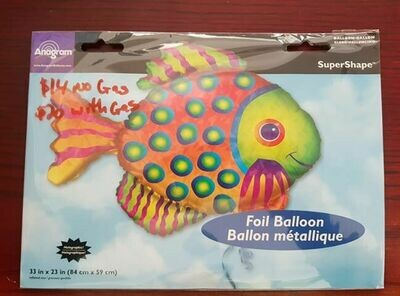 Fish foil balloon 84cm x 59cm