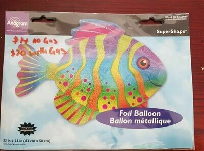 Fish foil balloon 83cm x 58cm