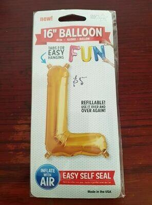 41cm Gold L letter Balloon