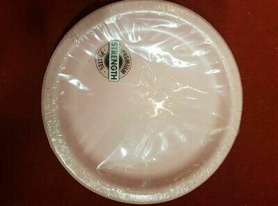 24 Cream Plastic Plates
