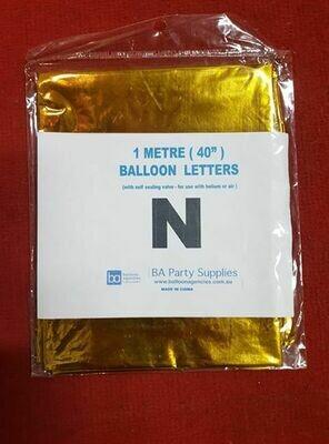 1M N Balloon Letter