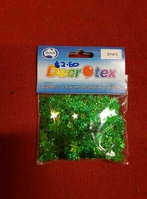 14g Green Confetti Stars