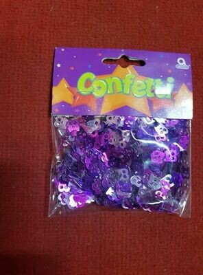 14g Purple Confetti numbered 18