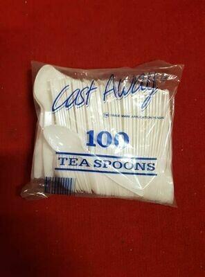100 Plastic tea spoons