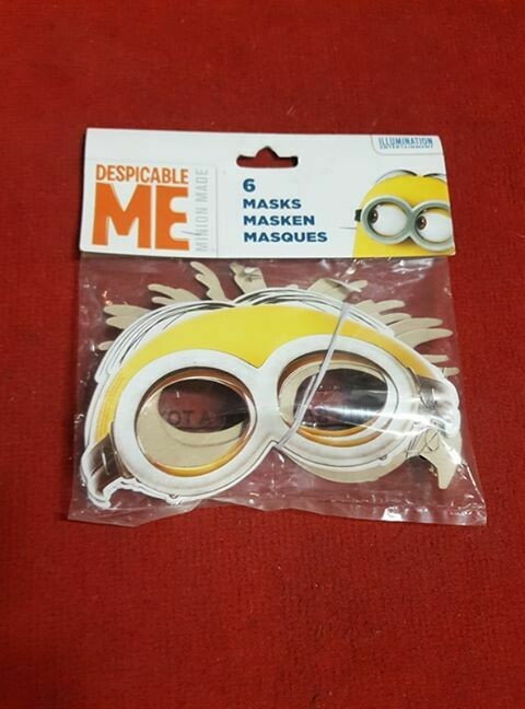 Despicable me 6 PACK OF MASKS