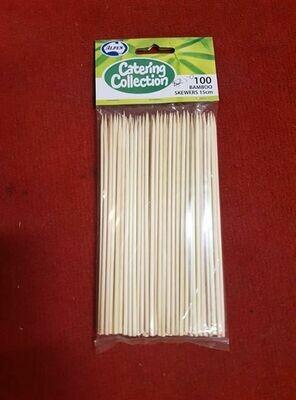 100 Pack of BAMBOO Skewers 15cm