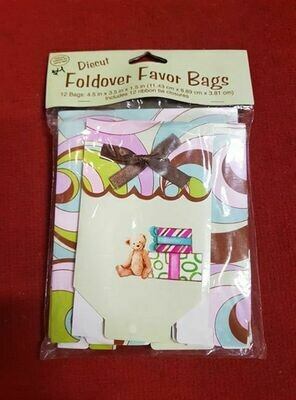 12 FOLD OVER FAVOR BAGS 4.5IN X 3.5IN