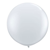 90cm White Latex Balloon