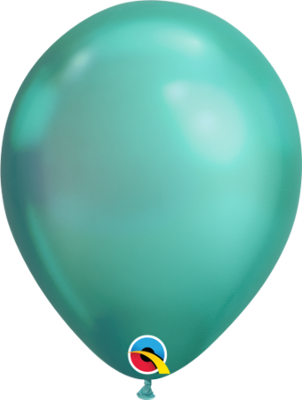 Chrome Green Balloon